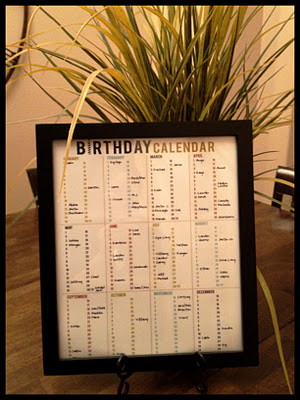 Birthday Calendar Printable Round-up