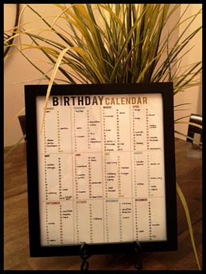 Birthday Calendar Printable Round-up
