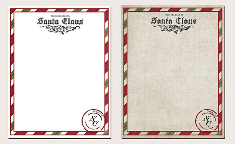 North Pole Letterhead Free Printable - a fun way to give the gift of self esteem to your little ones! From overthebigmoon.com!