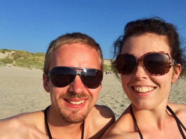Post-dinner, post-swim, post-sunbathing... Happy!