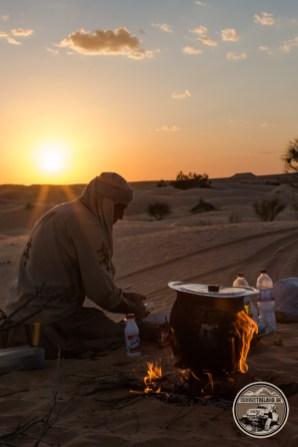 Abdallah war nicht nur ein guter Guide, auch ein hervorragender Wüstenkoch!