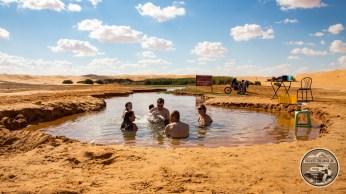 Die heiße Quelle des verlorenen Sees. Bei 30 Grad im Schatten nicht unbedingt erfrischend!