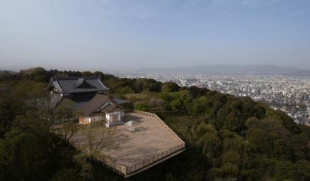 La Maison de thé en verre Hikarian vue du ciel ©Tokujin Yoshioka
