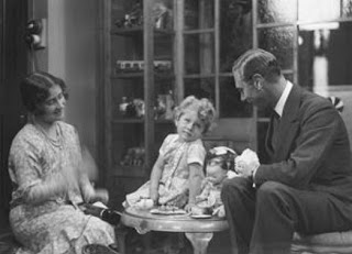 The Duke and Duchess of York with Princess Elizabeth having a tea party on July 30, 1929 ©Marcus Adams The Royal Collection
