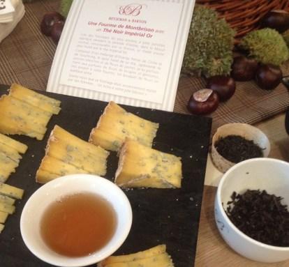 Accord fromage-thé Fourme de Montbrison et thé noir Impérial Or Betjeman & Barton - ©Chloé Chateau