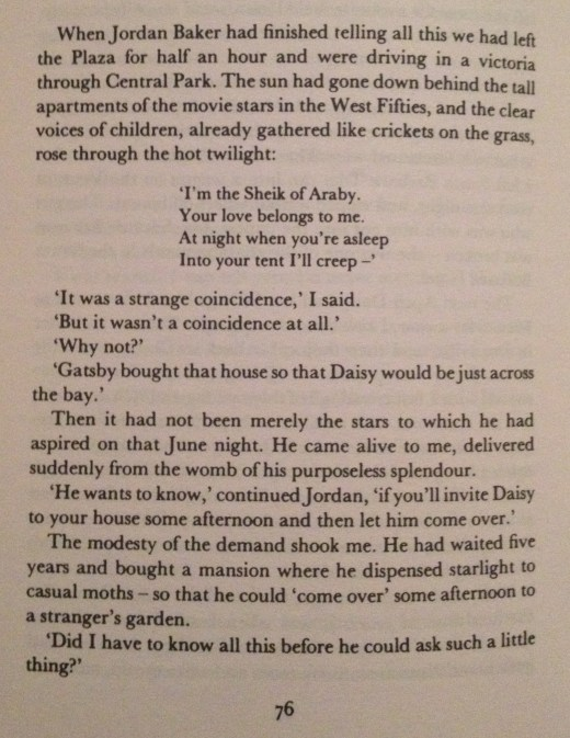 F. Scott Fitzgerald, The Great Gatsby, Chapter IV - 1
