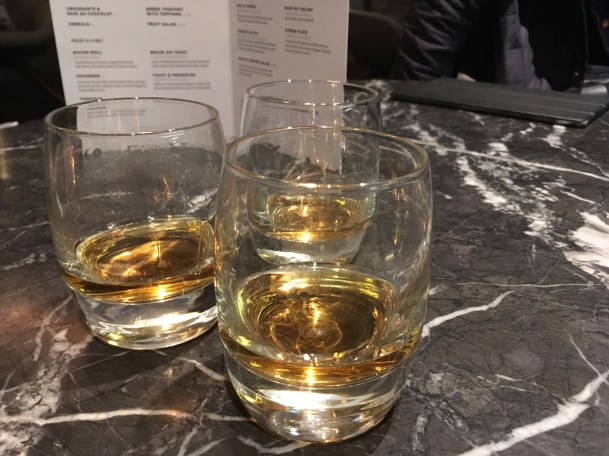 My first whisky ever, with Aaron and Daniel at Gatwick airport