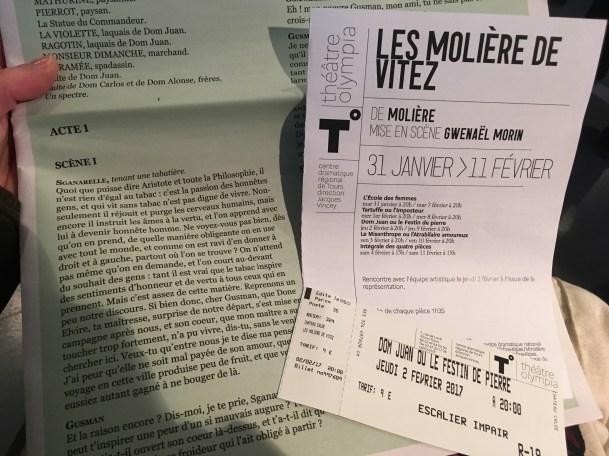 Dom Juan de Molière à l'Olympia de Tours