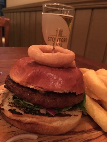 The Blue Tram Burger and Cider at The Tram Depot Pub in Cambridge