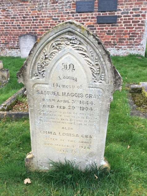 Tumbstone in St Andrew and St Mary's Church's graveyard