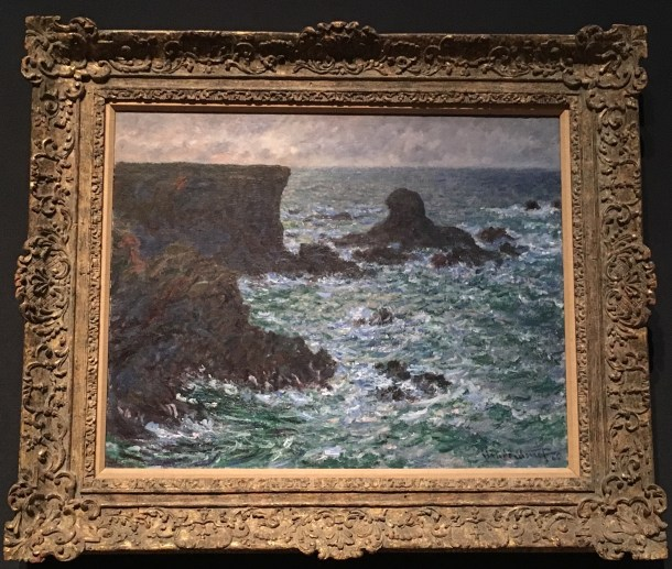 Fitzwilliam Museum in Cambridge- Claude Monet, Rocks at Port-Coton, the Lion Rock, Belle-ïle, 1886