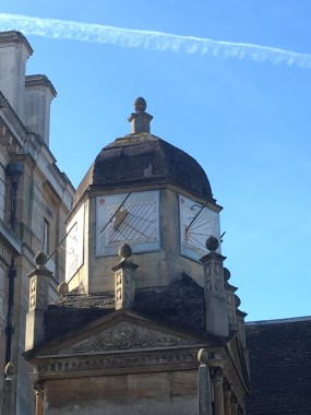 Gonville and Caius College in Cambridge - clock