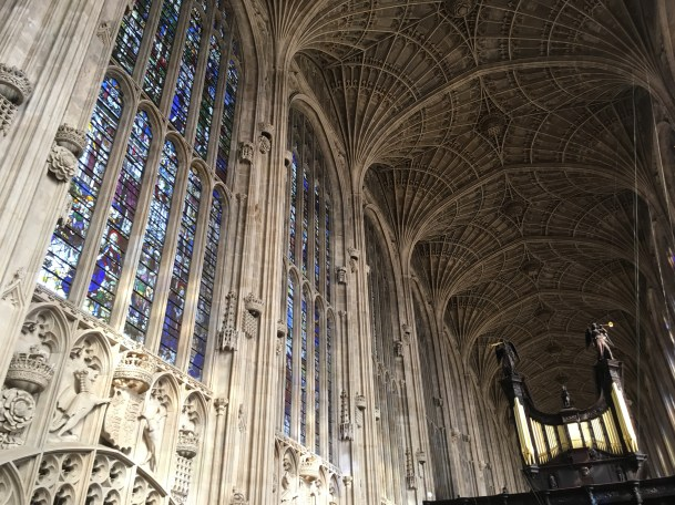 Inside King's College Chapel in Cambridge