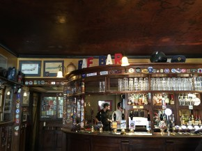 The RAF Bar at The Eagle pub in Cambridge
