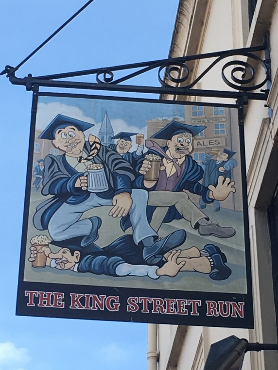 The King Street Run pub sign in Cambridge