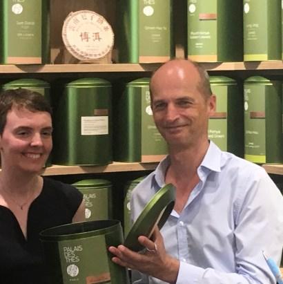 François-Xavier Delmas à l'inauguration de la boutique Palais des thés de Tours