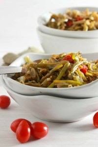 Roasted Green Beans with Shallots and Cherry Tomatoes