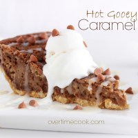 Hot Gooey Caramel Pie