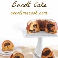 Marbled Pumpkin Bundt Cake with Brown Sugar Glaze