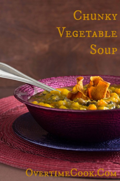 Chunky Vegetable Soup on OvertimeCook.Com