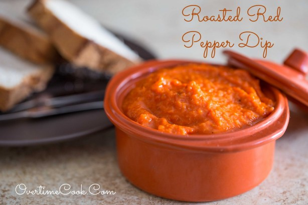 Roasted Red Pepper Dip on OvertimeCook