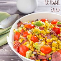 Grilled Corn and Pastrami Salad