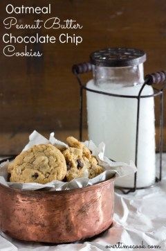 oatmeal peanut butter chocolate chip cookies on Overtime Cook