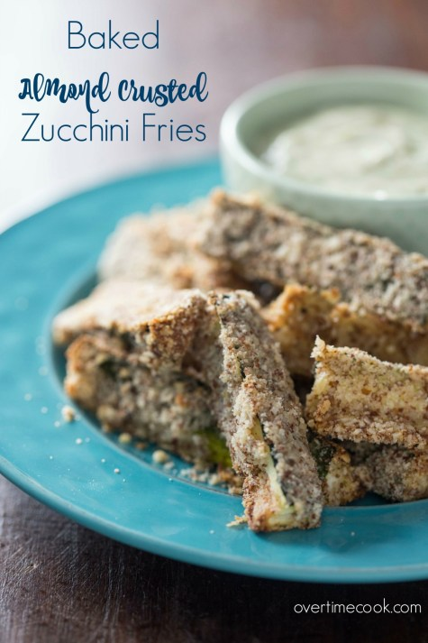 Baked Almond Crusted Zucchini Fries