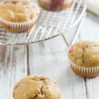 Healthy Strawberry Rhubarb Muffins