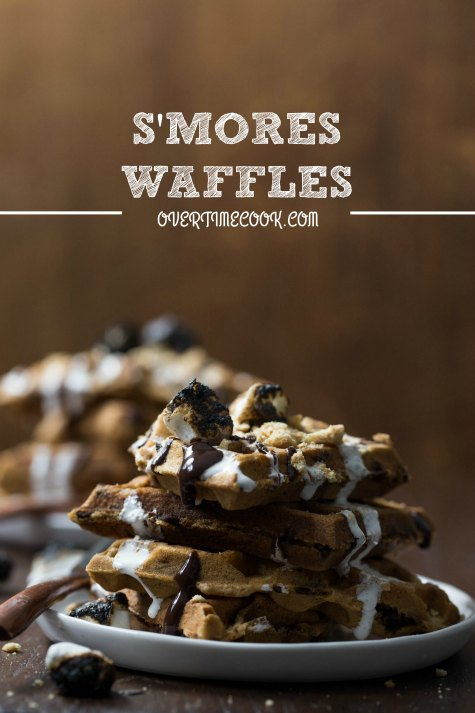 s'mores waffles on overtimecook.com