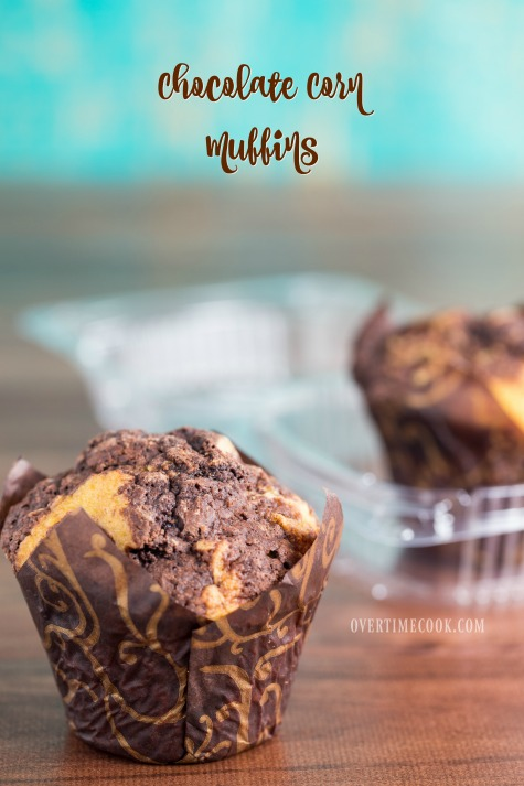 Chocolate Corn Muffins on Overtime Cook