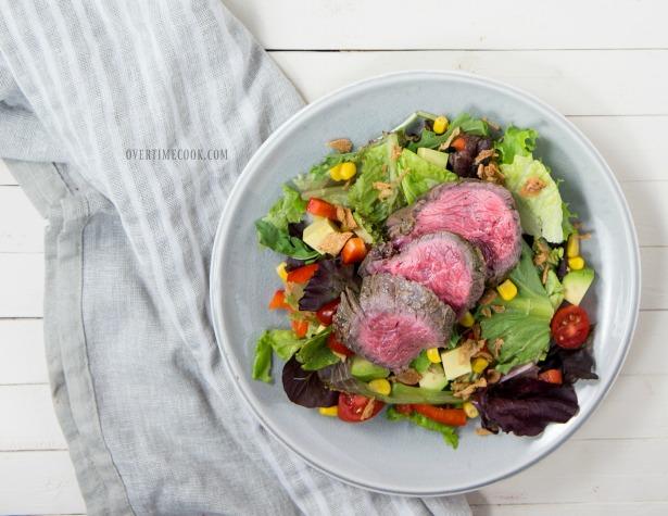 garlic basil steak salad overtimecook 3