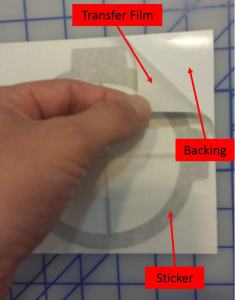 Custom Vinyl Decal Parts