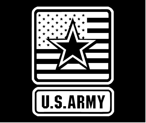 Us Army Sticker The Army Logo With The American Flag And Large