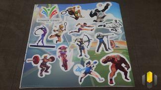 Conjunto de adesivos com os sprays dos heróis que vemos no jogo