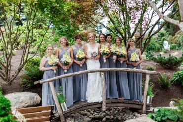 Bride and Party on Bridge