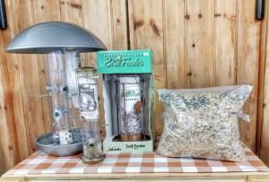 bird feeder bronze bird seed