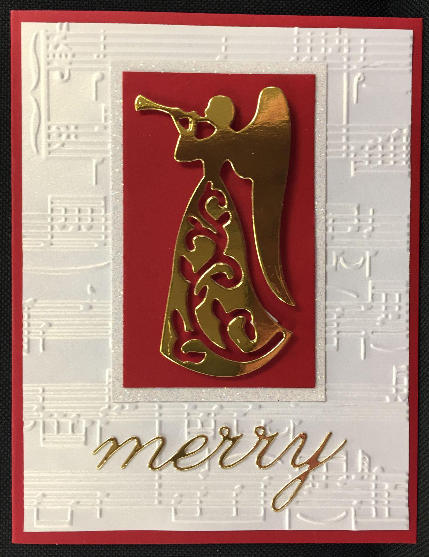 Heralding Angel Merry Christmas Card Inspiration Station