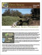 Open Spaces Newsletter – Winter 2008 (PDF)