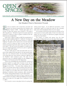 Open Spaces Newsletter – Spring 2007 (PDF)