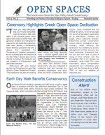 Open Spaces Newsletter – Summer 2002 (PDF)