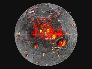 NASA encontra evidência de água congelada nos pólos de Mercúrio 1