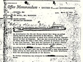 FBI UFO Memo