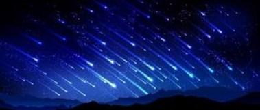 A chuva de meteoro não será tão intensa como se vê na ilustração, mas promete.