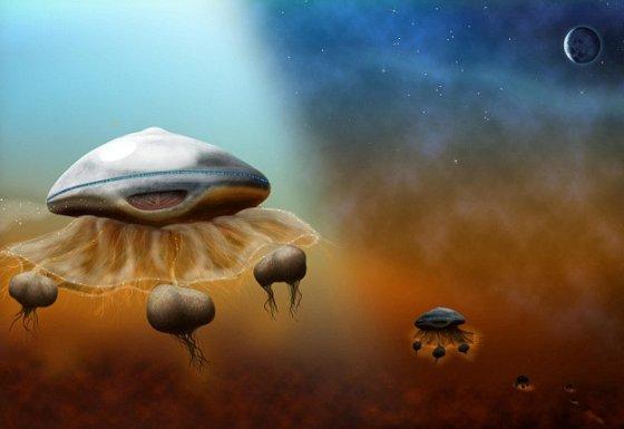 Alienígenas do tipo 'água-viva'
