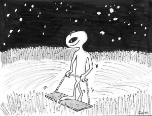 ET fazendo agroglifo