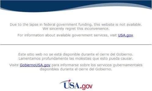 Sites governamentais estadunidenses fora do ar