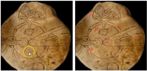 Alegados artefatos maias mostrando naves alienígenas