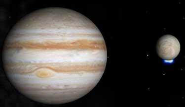 Lua de Júpiter ejeta água para o espaço