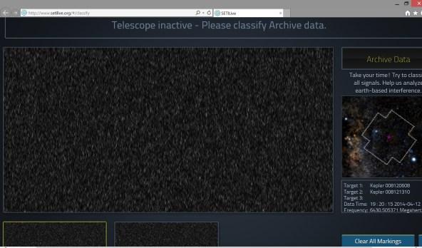 SETI Live Kepler-186f
